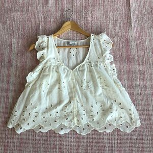 Cream Zara Top